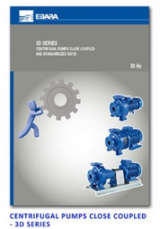 Ebara Centrifugal Pumps Close Coupled - Monoblock - 3D Series