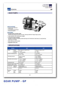 Ebara Gear Pump - GP