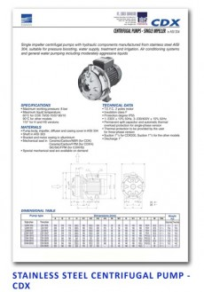Ebara Stainless Steel Centrifugal Pump - CDX
