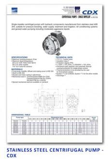 Ebara Stainless Steel Centrifugal Pump - CDX