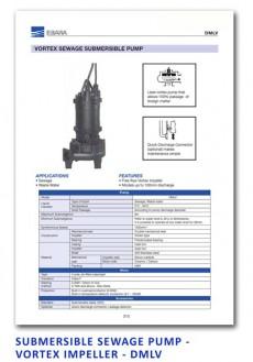 Ebara Submersible Sewage Pump - Vortex Impeller - DMLV