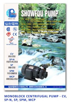 Showfou Monoblock Centrifugal Pump - CV-SP-N-SP-SPM-MCP