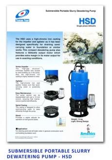 Tsurumi Submersible Portable Slurry Dewatering Pump - HSD
