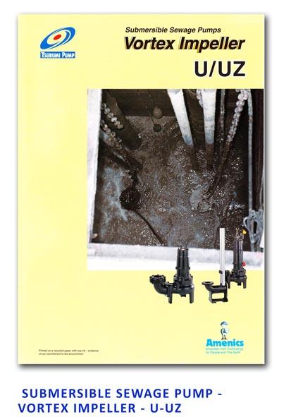 Tsurumi Submersible Sewage Pump - Vortex Impeller - U-UZ