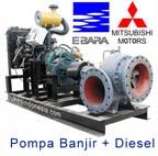 Ebara Pompa Banjir dengan Penggerak Diesel - 1