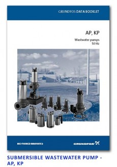 Grundfos Submersible Wastewater Pump - AP-KP