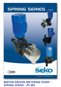 Seko Motor Driven Metering Pump - Spring Series - PS MS
