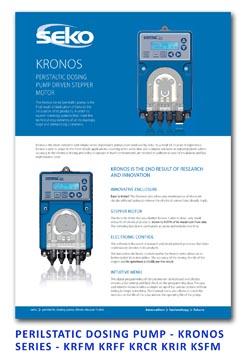 Seko Peristaltic Dosing Pump - Kronos Series - KRFM KRFF KRCR KRIR KSFM