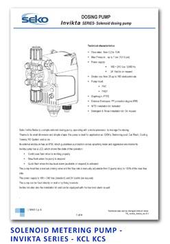 Seko Solenoid Metering Pump - Invikta Series - KCL KCS