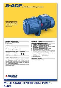 10 Pedrollo Multi Stage Centrifugal Pump - 3-4CP