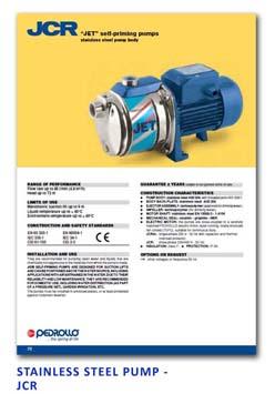 19 Pedrollo Stainless Steel Pump - JCR