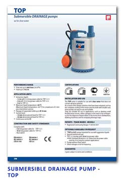 23 Pedrollo Submersible Drainage Pump - TOP