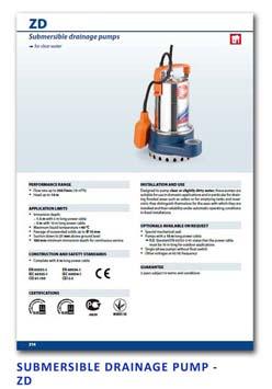 24 Pedrollo Submersible Drainage Pump - ZD