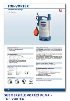 26 Pedrollo Submersible Vortex Pump - TOP-VORTEX