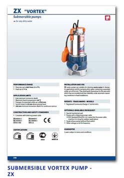 28 Pedrollo Submersible Vortex Pump - ZX