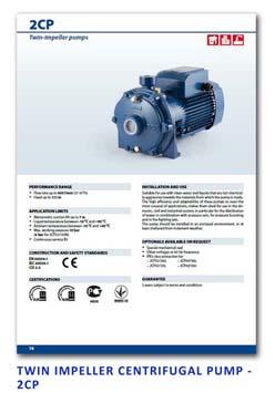 29 Pedrollo Twin Impeller Centrifugal Pump - 2CP