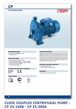 3 Pedrollo Close Coupled Centrifugal Pump - CP 25-160B - CP 25-200A - 1