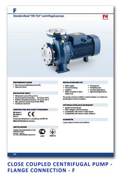 6 Pedrollo Close Coupled Centrifugal pump - Flange Connection - F