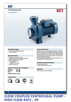 7 Pedrollo Close Coupled Centrifugal Pump - High Flow Rate - HF