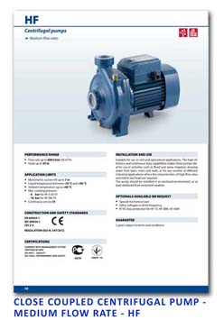 8 Pedrollo Close Coupled Centrifugal Pump - Medium Flow Rate - HF