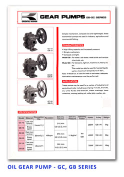 Koshin Oil - Gear Pump - GC - GB