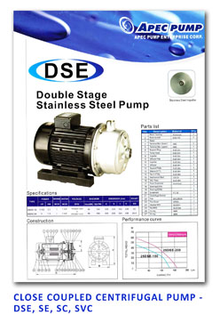 APP - Close Coupled Centrifugal Pump - DSE - SE - SC - SVC