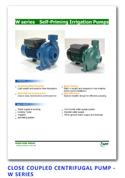 APP - Close Coupled Centrifugal Pump - W Sereis